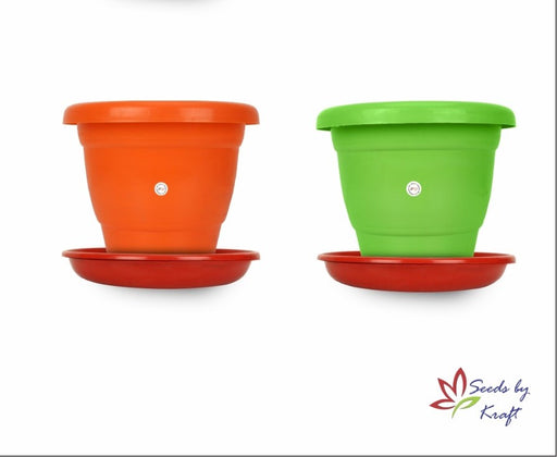 8-inch Fresh Gamla/Pot/Pots Planter. Great for garden lovers Different colours ( 2 pots + Tray)