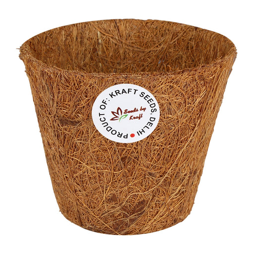 4 inch Coir Pots Nursery Planter for Plants & Flowers & Vegetable & Herb Seeds Greenhouses (6 Pots)