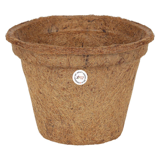 8 inch Coir Pots Nursery Planter for Plants & Flowers & Vegetable & Herb Seeds Greenhouses (4 Pots)