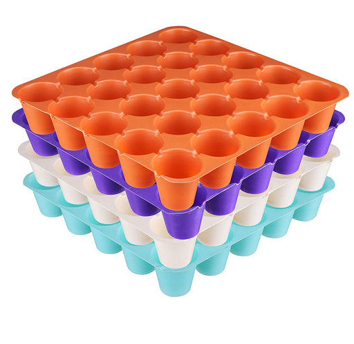 Seedling Starter Tray Set Colourful Spectacular Quality (25 Holes in One Tray) (Pack of 15)