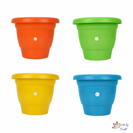 8-inch Fresh Gamla/Pot/Pots Planter. Great for garden lovers Different colours ( 4 Pots)