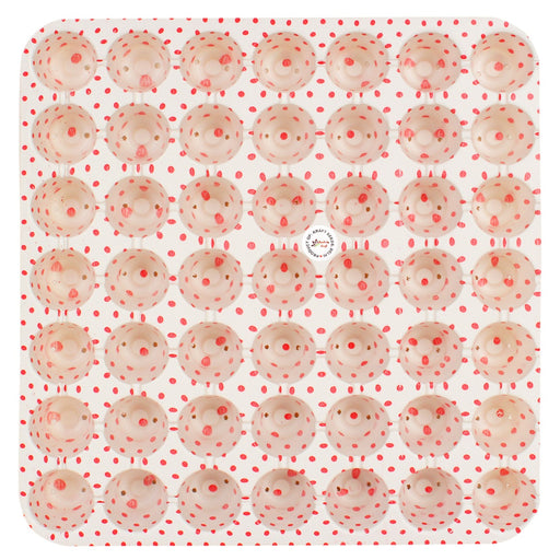 49 Cells Orange colour Dot Printed Reusable Seeds Trays for Germination of Seeds (Set of 4pc's)