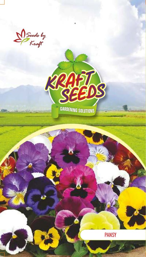 PANSY MIX Flower Seeds Pack With Agropeat 100gm