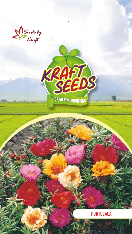 PORTULACA K-S SPL MIX Flower Seeds Pack With Agropeat 100gm