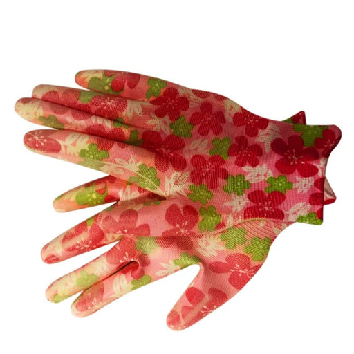 Garden Gloves Floral Print Premium Fabric Spectacular Design Reusable Washable Free Size–3 Pair