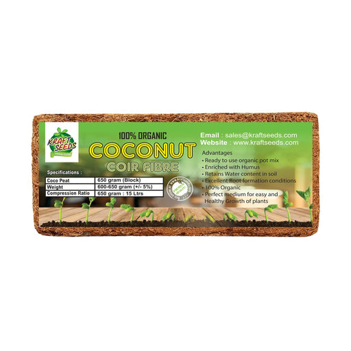 Cocopeat / Agropeat Use for Fast Germination, Growth and Water Retention 650gm