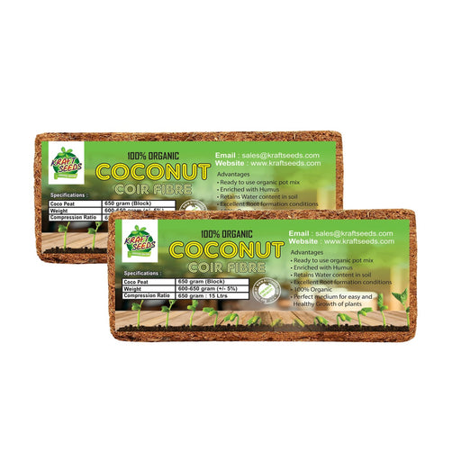 Cocopeat / Agropeat Use for Fast Germination, Growth and Water Retention 650gm (Pack of 2)