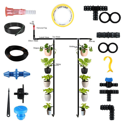 EcoFlo Drip Irrigation Garden Watering Kit for 50 Plants for Home Garden Use and Nursery Use