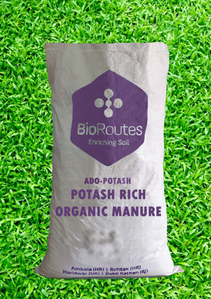Potash Enriched Organic Manure ADO-POTASH Anaerobically digested Biomass, Organic Potash and Culture (micro- organisms) 5kg Bag