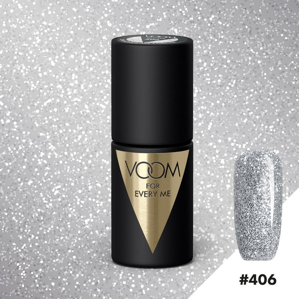 VOOM Soak Off Gel Polish #406 - Diamonds Are Forever (.17 fl. oz. | 5 ml)