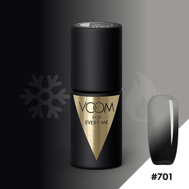 VOOM Soak Off Gel Polish #701 - Twisted Black (.17 fl. oz. | 5 ml)