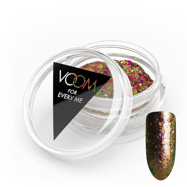 VOOM Glitter Powder - Chameleon Flakes - Red