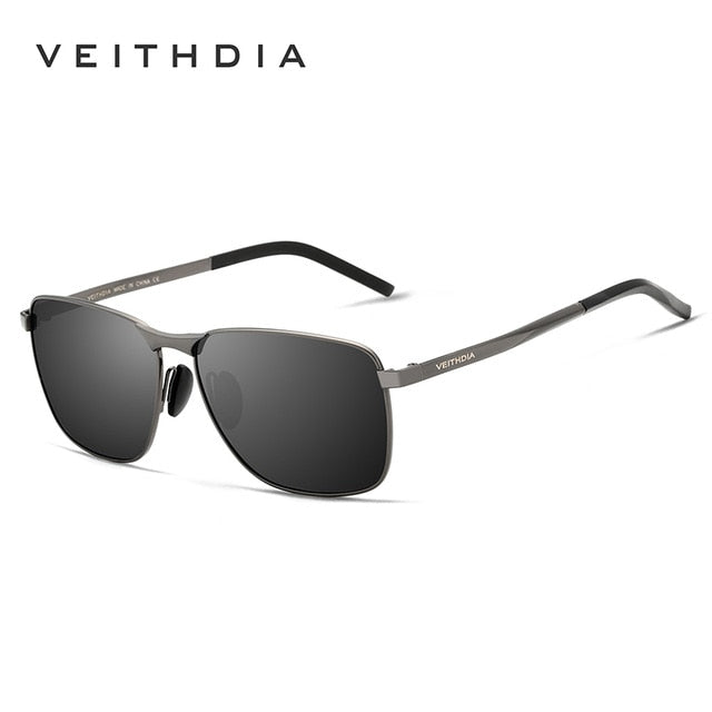 Men's Vintage Square Sunglasses Polarized UV400 Lens Eye-wear