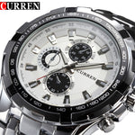 Luxury full steel Watch Mens Business Casual quartz Watch waterproof