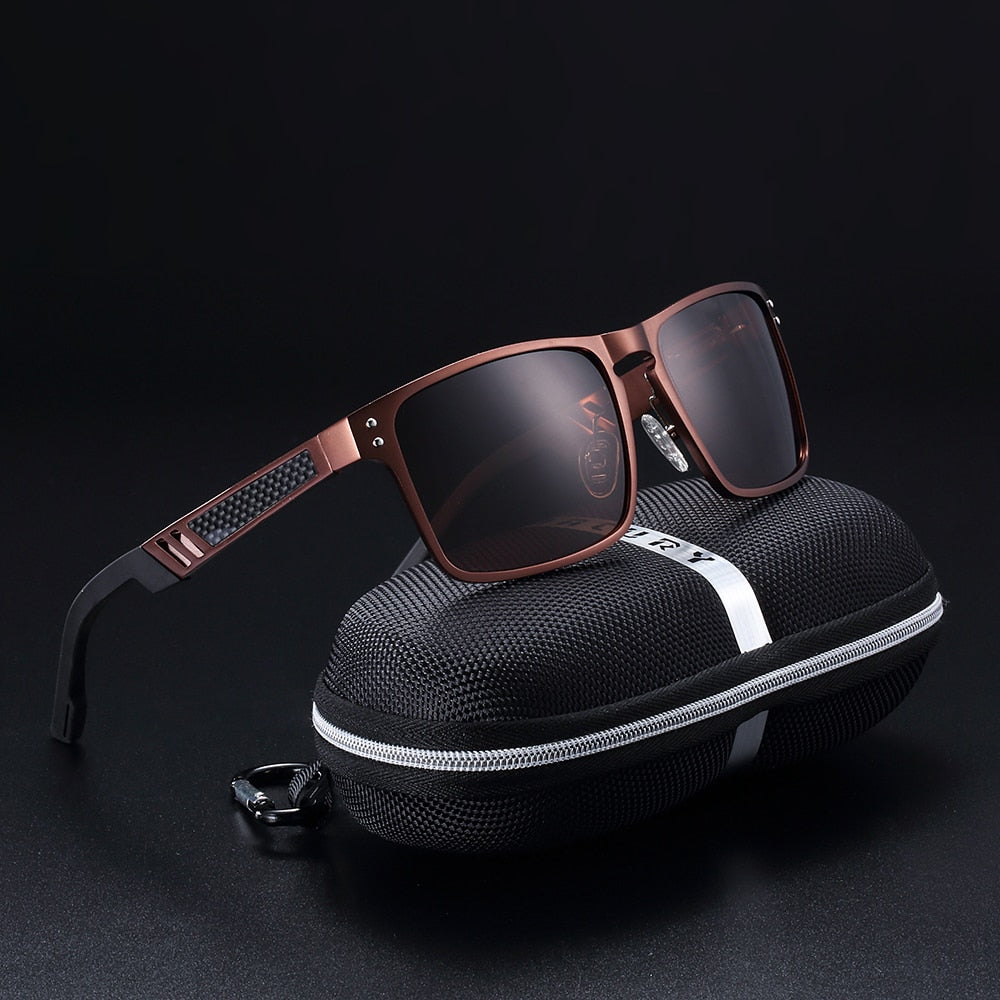 BARCUR Magnesium Sunglasses Men Polarized Classic Looking New Design with case