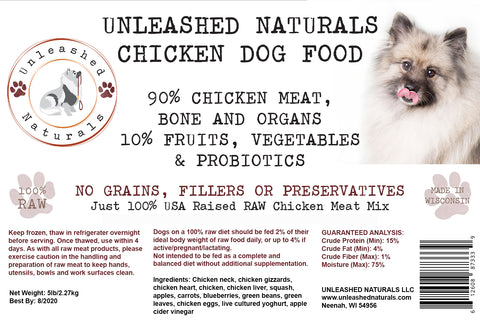 RAW Frozen Chicken Grind Dog Food