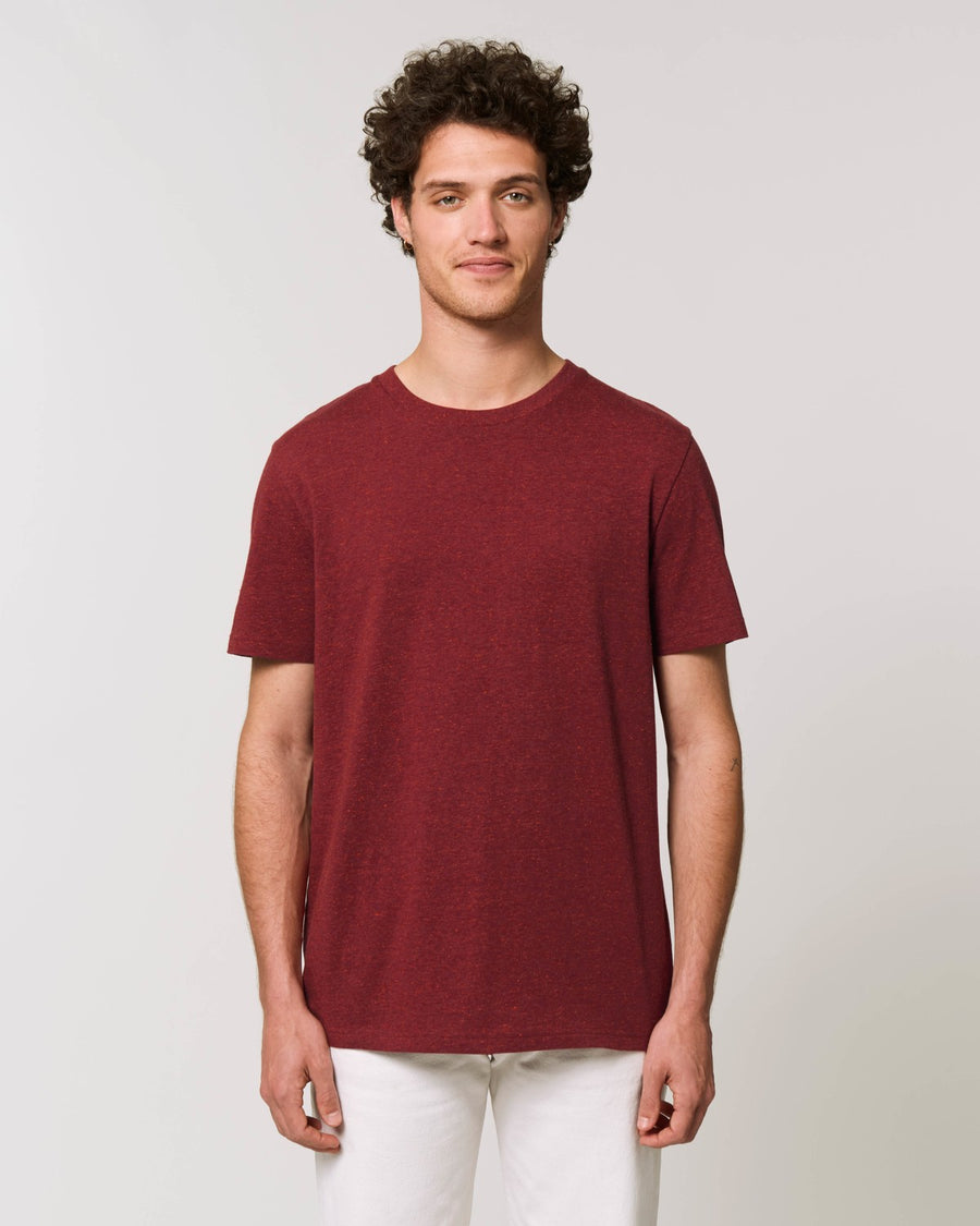 Stanley Stella Creator Unisex T-Shirt Heather Neppy Burgundy