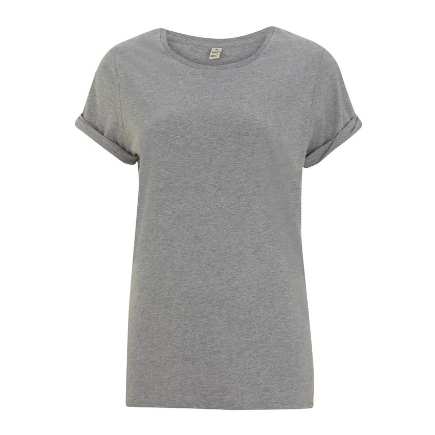 Continental Clothing EP12 Women's Rolled Sleeve T-Shirt Melange Grey