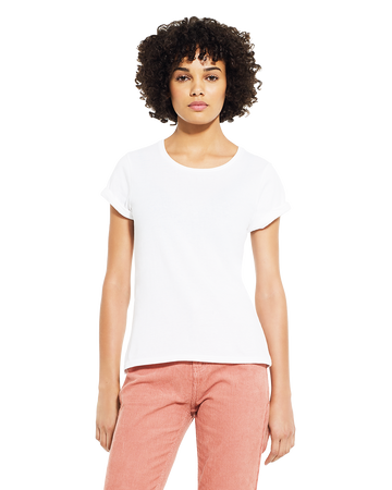 Continental Clothing EP12 Women's Rolled Sleeve T-Shirt White