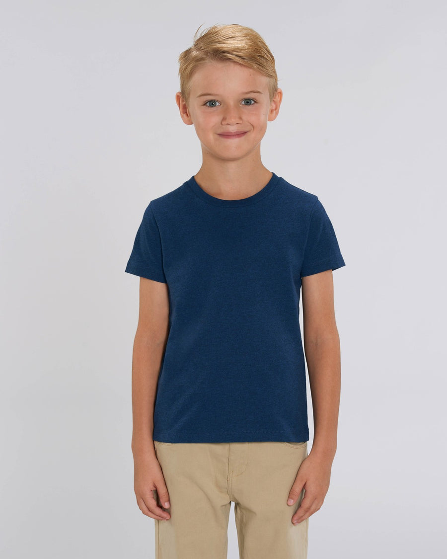 Stanley Stella Mini Creator Kid's T-Shirt Black Heather Blue