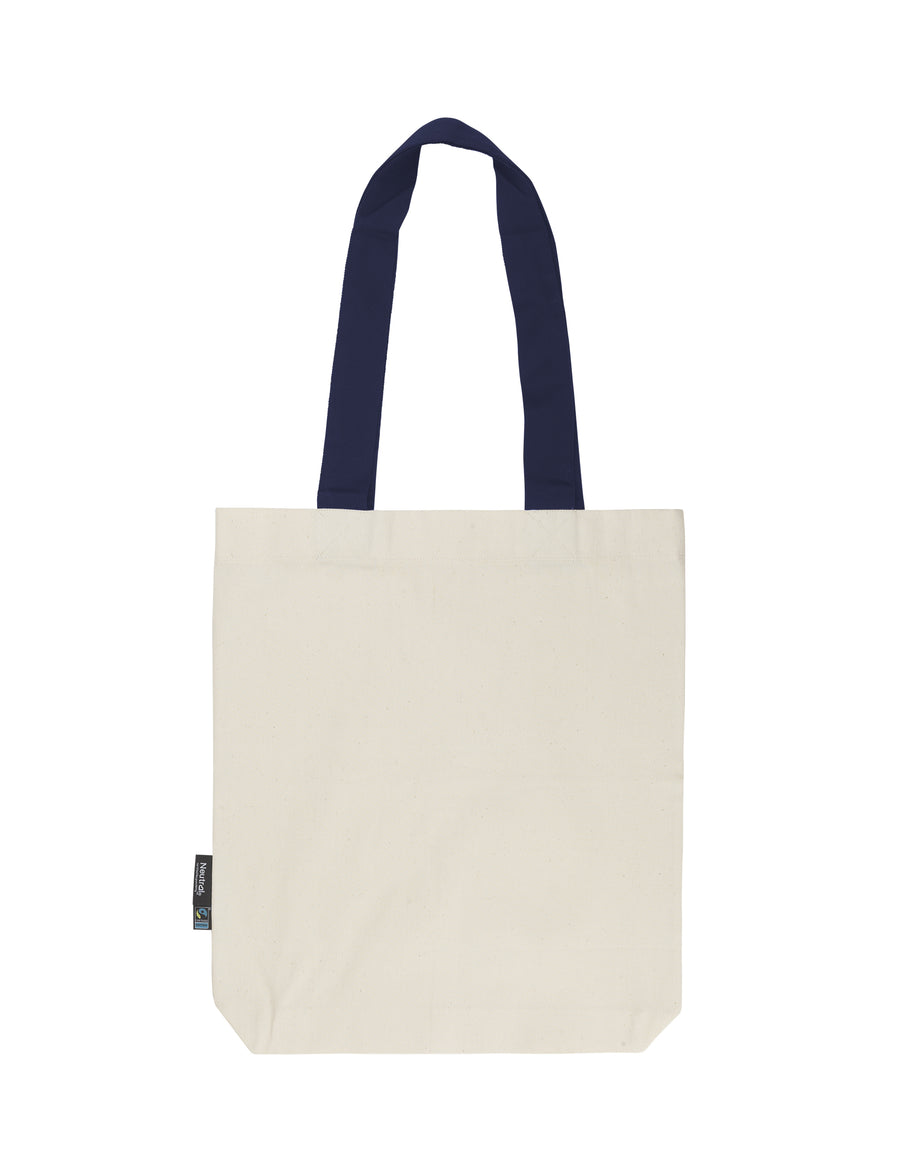 Neutral Twill Bag with Contrast Handles