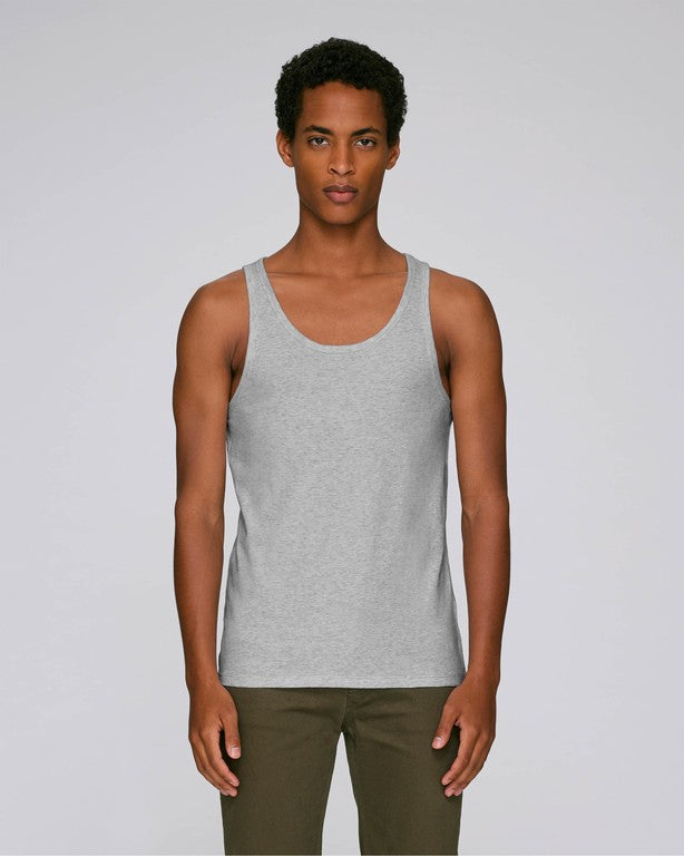 Stanley Stella Runs Men's Tank Top Heather Grey