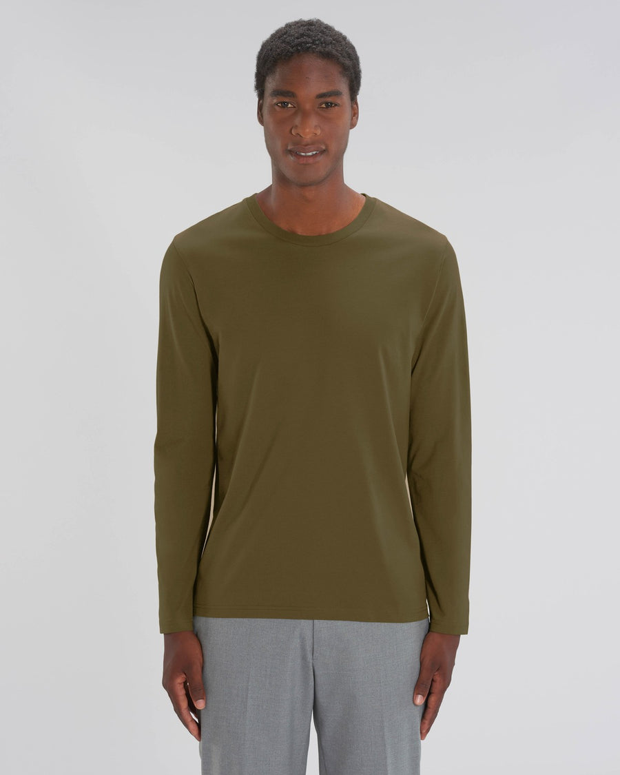 Stanley Stella Shuffler Men's Long Sleeve T-Shirt British Khaki