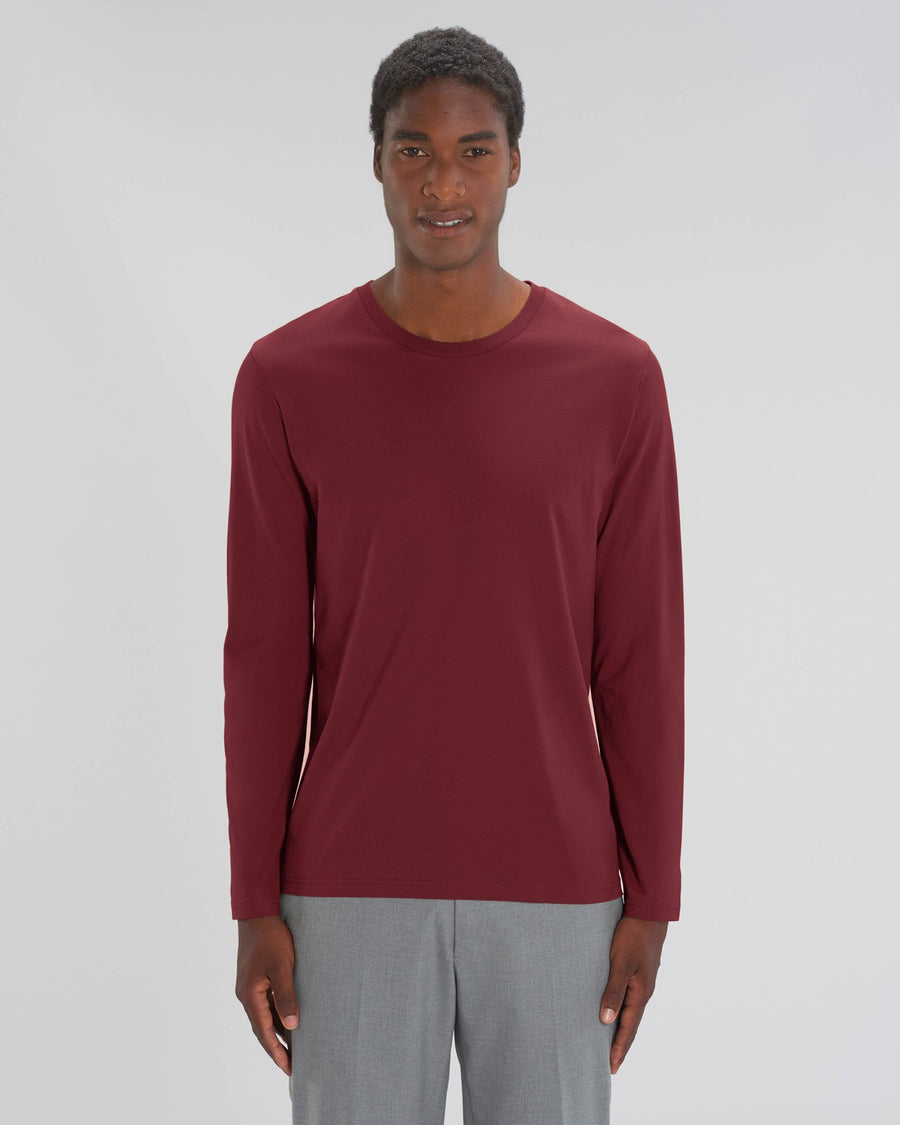 Stanley Stella Shuffler Men's Long Sleeve T-Shirt Burgundy