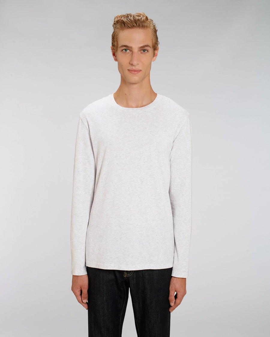 Stanley Stella Shuffler Men's Long Sleeve T-Shirt Heather Ash