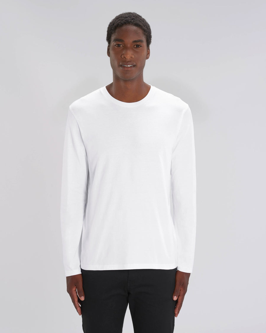 Stanley Stella Shuffler Men's Long Sleeve T-Shirt White
