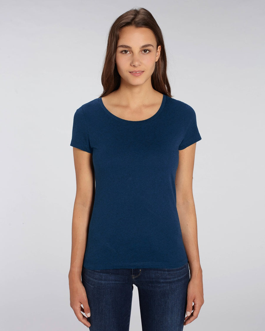 Stanley Stella Lover Women's T-Shirt Black Heather Blue