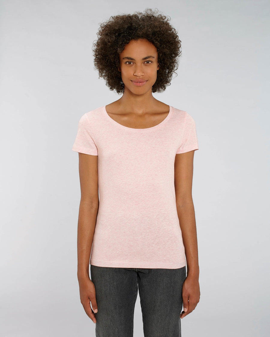 Stanley Stella Lover Women's T-Shirt Cream Heather Pink