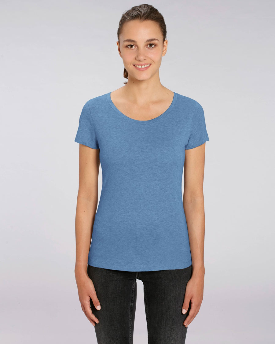 Stanley Stella Lover Women's T-Shirt Mid Heather Blue