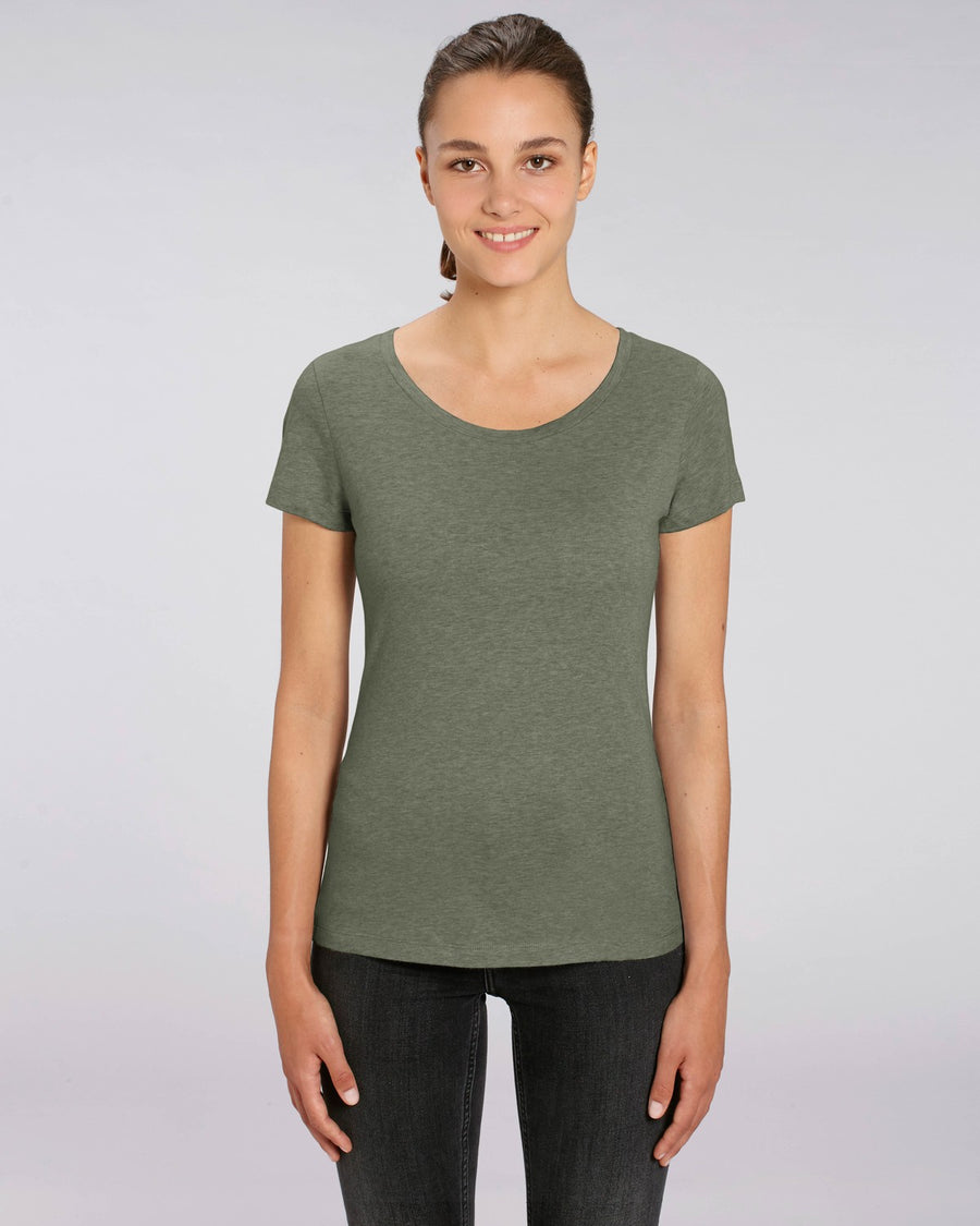Stanley Stella Lover Women's T-Shirt Mid Heather Khaki