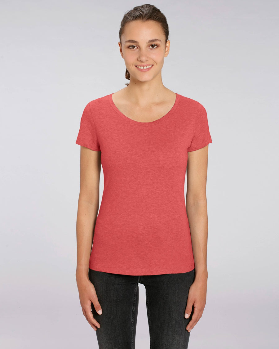 Stanley Stella Lover Women's T-Shirt Mid Heather Red