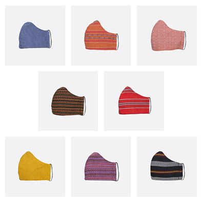8-Piece Set Handwoven Facemasks