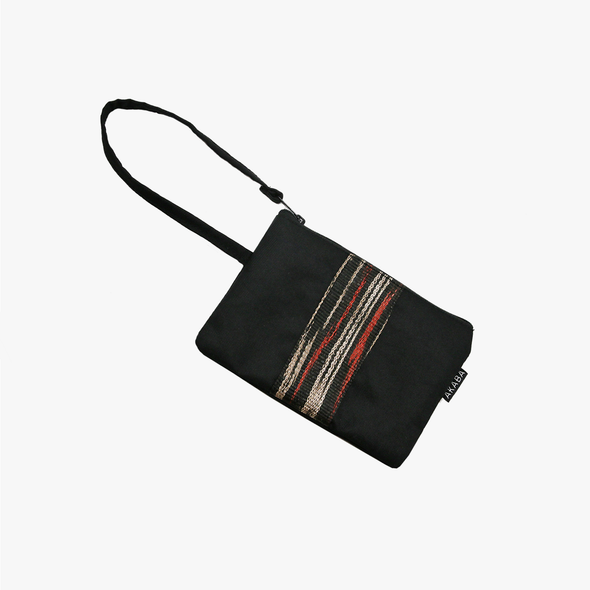 Travel Pouch - Black and Red T'nalak