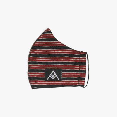 Handwoven Facemask - Black, Red & White Inabel