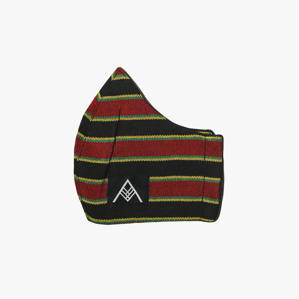 Handwoven Facemask - Red & Green Inabel