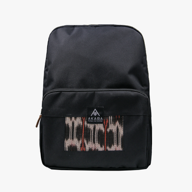 PRE-ORDER for delivery on Feb 15 - Yael Backpack - Black and Red T'nalak