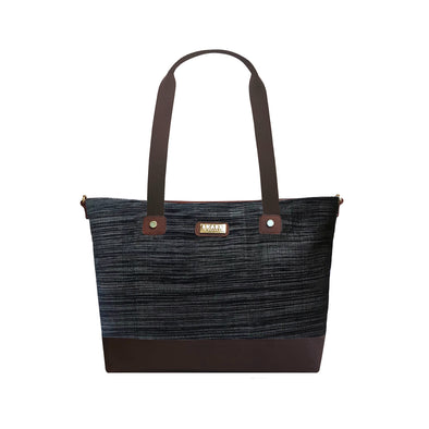 PRE-ORDER for delivery on July 15 Mayon Tote Bag - Black Hinabol