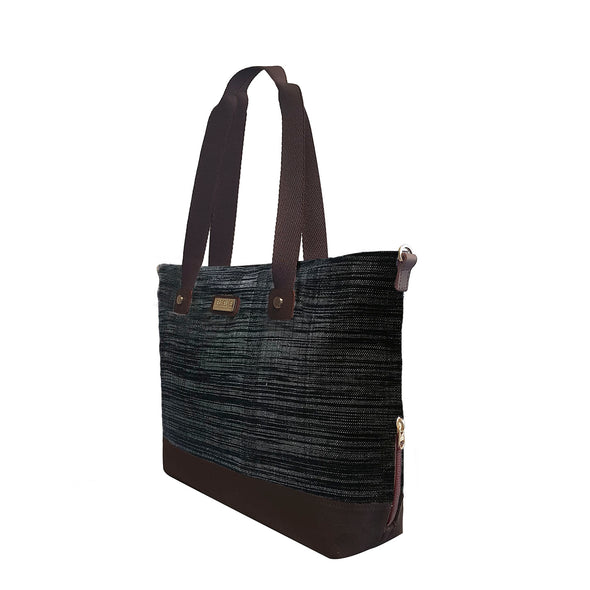 Mayon Tote Bag - Black Hinabol