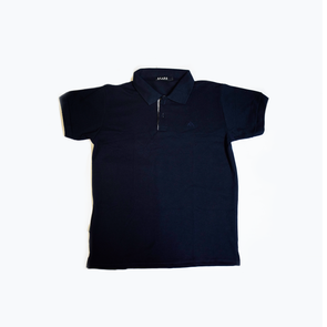 Men's Polo Shirt - Navy Blue Square Inabel