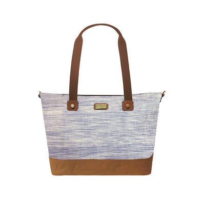 Mayon Tote Bag - Blue Hinabol