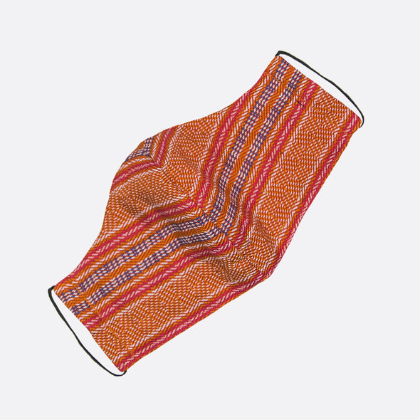 Handwoven Facemask - Orange and Red Inabel
