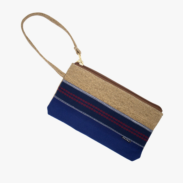 Travel Pouch - Blue and Red Ramit