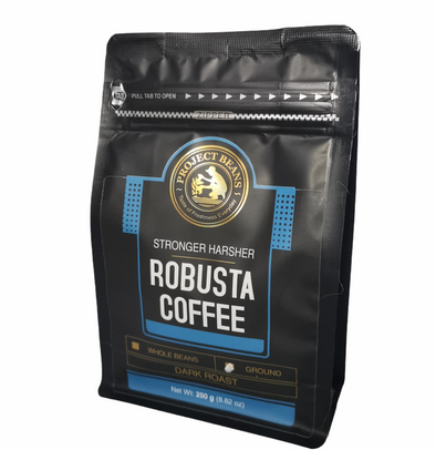 Ground Robusta Coffee by Project Beans