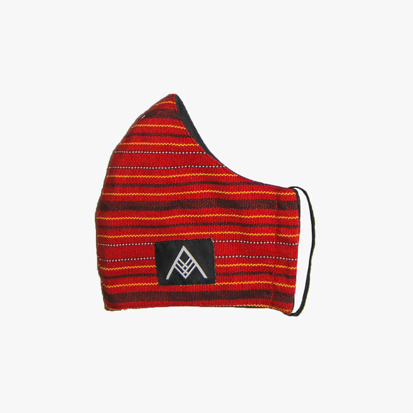 Handwoven Facemask - Red Nilaktob