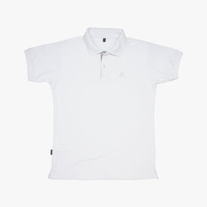 Men's Polo Shirt - White & Black Sinaluan