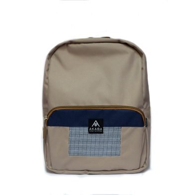 Yael Backpack - Navy Blue Square Inabel